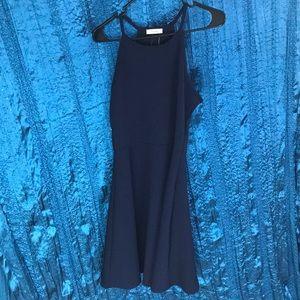 Navy blue skater dress NWT